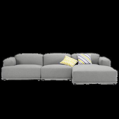 Flex 4 Seater L Shape Sofa Squirrel Grey Malmo Hipvan