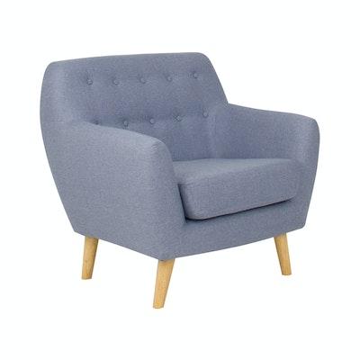 Emma 1 Seater Sofa - Blue - Image 2