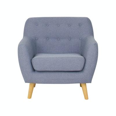 Emma 1 Seater Sofa - Blue - Image 1