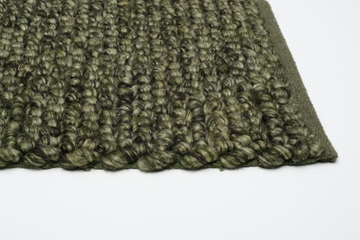 Delilah 100% New Zealand Felted Wool Rug (2m by 3m) - Olive Green - Image 2