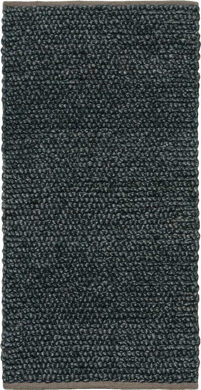 Delilah 100% New Zealand Felted Wool Rug (1.6m by 0.8m) - Midnight Blue - Image 1