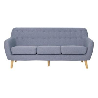 Emma 3 Seater Sofa - Blue - Image 1