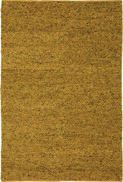 Delilah 100% New Zealand Felted Wool Rug (2m by 3m) - Yellow - Image 1