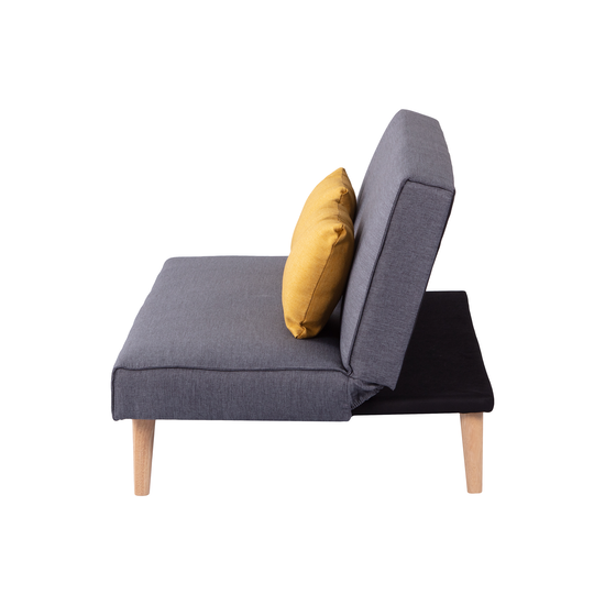Cushioned Yellow Leather Sofa 3d: Andre Sofa Bed - Grey With Yellow Cushions, Stockholm