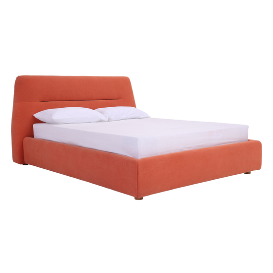 Malmo - Telly Queen Bed - Persimmon