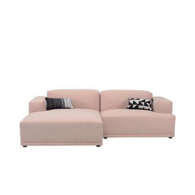 Flex 3 Seater L Shape Sofa - Left Facing Chaise Lounge - Champagne - Image 1