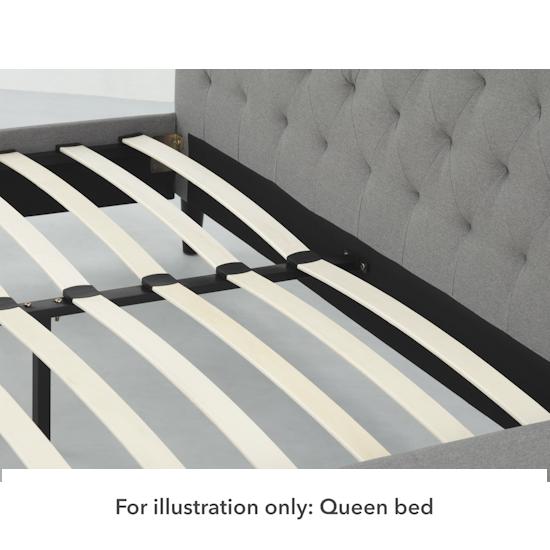 Stockholm - Lennon Single Headboard Bed - Grey