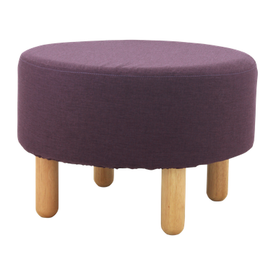 Millie Stool - Natural, Violet - Image 1