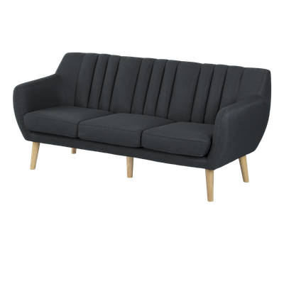 Liv 3 Seater Sofa - Carbon - Image 2