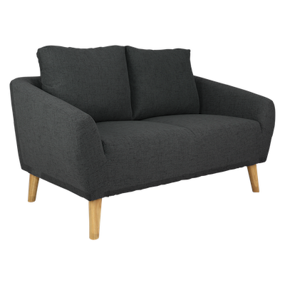 Hana 2 Seater Sofa - Charcoal - Image 2