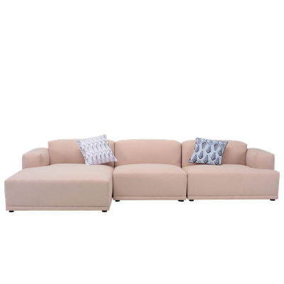 Flex 4 Seater L Shape Sofa - Left Facing Chaise Lounge - Champagne - Image 1