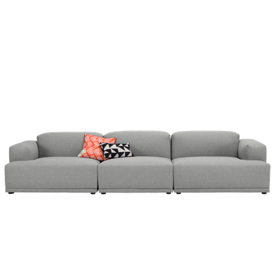 Flex 4 Seater Sofa - Squirrel grey - Image 1