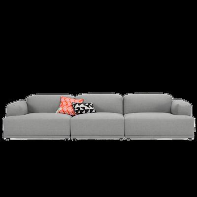 Flex 4 Seater Sofa - Squirrel grey - Image 1