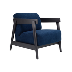 Daewood Lounge Chair - Graphite Grey, Midnight Blue - Image 1