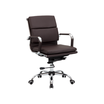 Eames Soft Pad Mid Back Office Chair - Brown (PU) - Image 2