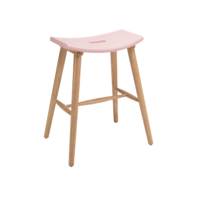 Hollis Counter Stool - Natural, Orchid Pink - Image 1