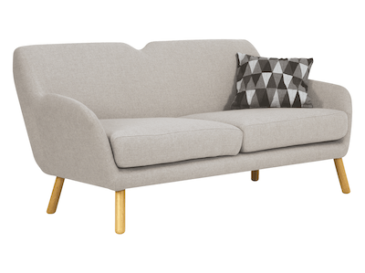 Joanna 3 Seater Sofa - Pale Silver - Image 2