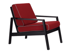 Latio Lounge Chair - Black, Crimson - Image 1
