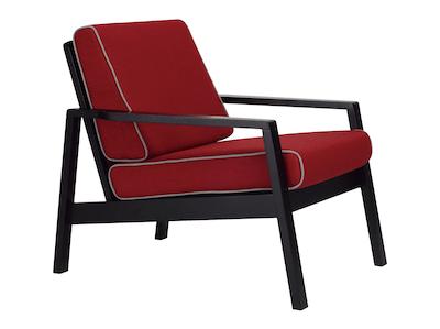 Latio Lounge Chair - Black, Crimson - Image 1