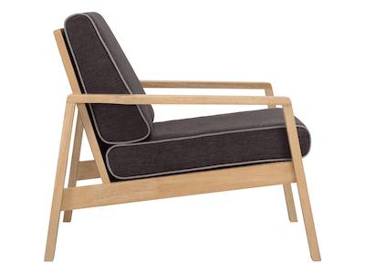 Latio Lounge Chair - Black, Crimson - Image 2