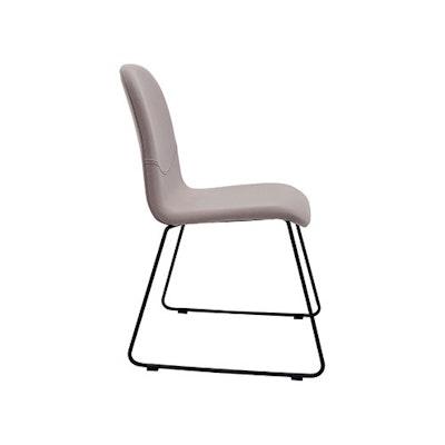 Ava Dining Chair - Matt Black, Barley (Set of 2) - Image 2