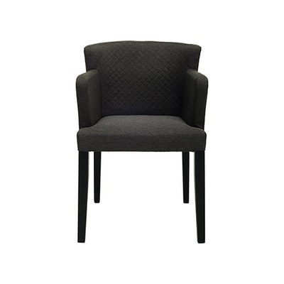Rhoda Arm Chair - Black, Mud (Set of 2) - Image 2