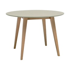 Ralph 4 Seater Round Dining Table - Natural, Taupe Grey - Image 1