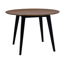 Ralph 4 Seater Round Dining Table - Black, Cocoa - Image 1