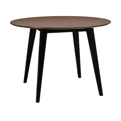 Ralph Round Dining Table 1m - Black, Cocoa - Image 1