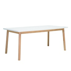 Kendall 8 Seater Dining Table - Natural, White Lacquered - Image 1