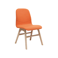 Ava Dining Chair - Natural, Tangerine (Set of 2) - Image 1