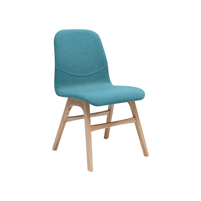 Ava Dining Chair - Natural, Emerald (Set of 2) - Image 1