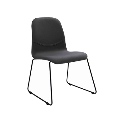 Ava Dining Chair - Matt Black, Paloma (Set of 2) - Image 1
