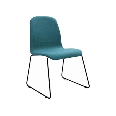 Ava Dining Chair - Matt Black, Emerald (Set of 2) - Image 1