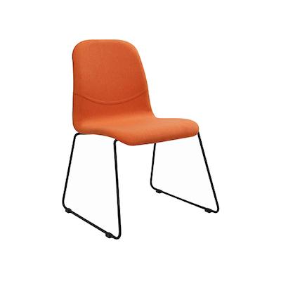 Ava Dining Chair - Matt Black, Tangerine (Set of 2) - Image 1