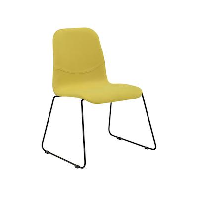 Ava Dining Chair - Matt Black, Pistachio (Set of 2) - Image 1