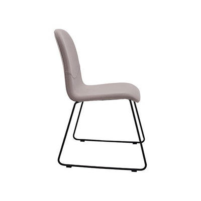 Ava Dining Chair - Matt Black, Emerald (Set of 2) - Image 2