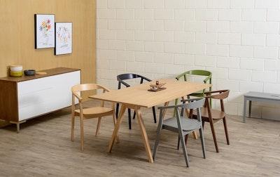 Varden Dining Table 1.7m - Black Ash - Image 2