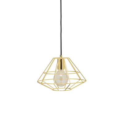 Fika Lamp with Round Bulb - Brass - Image 1