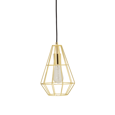 Fika Lamp with Pear Shape Bulb - Brass - Image 1