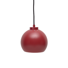 Sphere Pendant Lamp - Matte Red - Image 1