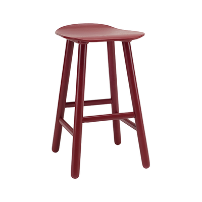 Hetty Counter Stool - Maroon - Image 1