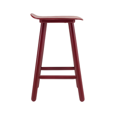 Hetty Counter Stool - Maroon - Image 2
