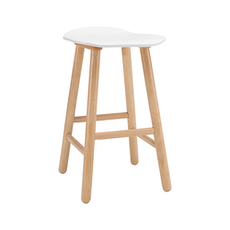 Hetty Counter Stool - Natural, White - Image 1