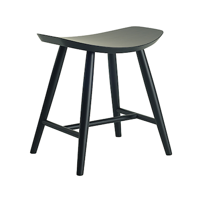Philly Stool - Black Ash Veneer - Image 1