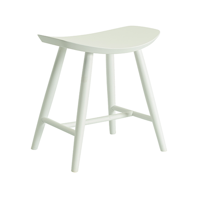 Philly Stool - White Lacquered - Image 1