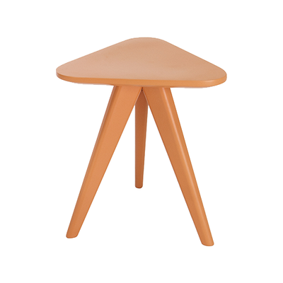 Petite Stool / Small Table - Orange Lacquered - Image 2
