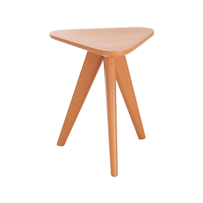 Petite Stool / Small Table - Orange Lacquered - Image 1