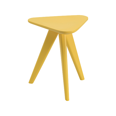 Petite Stool / Small Table - Dust Yellow Lacquered - Image 1