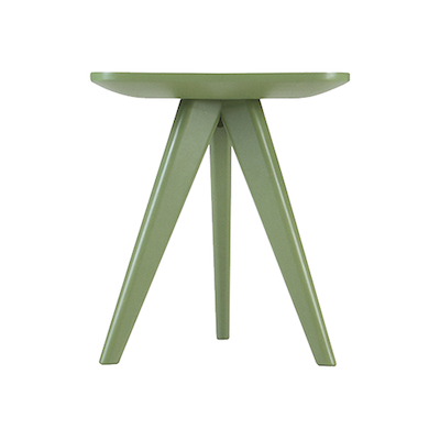 Petite Stool / Small Table - Dust Yellow Lacquered - Image 2